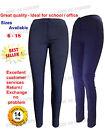 Filles Bleu Marine Skinny Pantalon École Extensible femme office de travail NB
