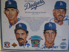The Great Dodger Infield Ron Cey, Davey Lopes, Bill Russell & Steve Garvey PSA