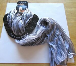 Lavello Designer Scarf- oblong-white black zebra print-light weight polyester