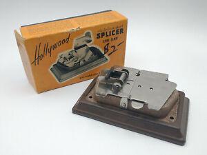Vintage Hollywood Stainless Steel Film Splicer / 8mm & 16mm / In Original Box