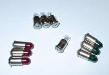 """Ersatzlampen MS4 rot,grün,klar (Märklin 600000 600010 600020)  19V - 10 x  """"NEU"""""""
