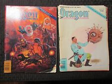 1989 DRAGON Magazine #151 VG- 153 GD+ 156 GD- LOT of 3 D&D AD&D TSR