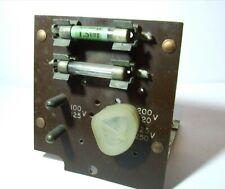 PYE P445U MAINS VOLTAGE SELECTOR PANEL  PYE 1101/1A 1112 3017 3042 VALVE RADIO