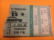 YES 1979 Checkerdome St.Louis Concert Ticket Stub Steve Howe Rick Wakeman Rare!