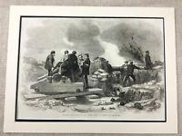 1855 The Siege Di Sebastopoli Guerra Battle Originale Vittoriano Antico Stampa
