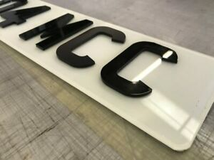 3mm Acrylic Letters and Numbers  3D/4D effect number plate/ registration plate