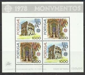 Portugal 1978 - Europa CEPT Monuments S/S MNH