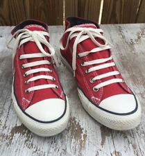 Converse Chuck Taylor STREET MID TOP All Stars RED Men's 9 SWEET