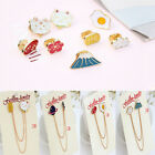 Cute Brooches Harajuku Egg Cat Pins Badge Corsage Unique Brooch Jewellery