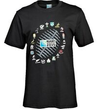 Rugby World Cup 2015 Official 20 Nations Ball Graphic T-Shirt - Black L BNWT