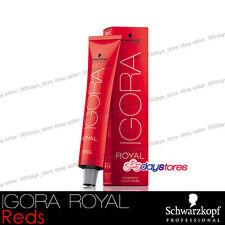 Schwarzkopf Professional IGORA ROYAL Permanent Colour Hair Dye 60ml Reds