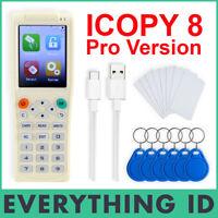 ICOPY 8 PRO SMART ID IC ENCRYPTED CARD KEY TAG DUPLICATOR RFID HID PROX ICOPY8