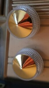 Astor BPJ Radio Knobs in gold and Silver 1930s to 50s Gold or Silver. Brand new.