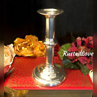 Sterling Silver Candle holder Old English Unmarked   Monogrammed