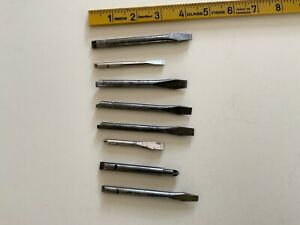 Yankee Pump Action Screwdriver Bits x 8 - Assorted - Clearance - Old Tools