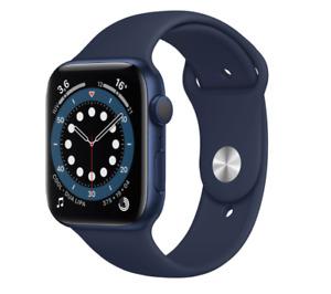 Apple Watch Series 6 40mm Blue Aluminum Case Deep Navy Sport Band Unlocked GPS C