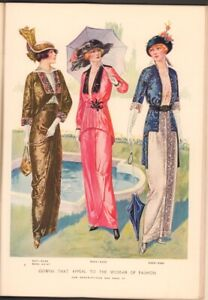 1913 July McCall Magazine Dressmaking Ad Art Hat Making lesson Cut-out page plus