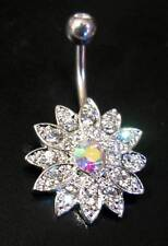 TITANIUM Bar - Flower - Belly Bar - Choose Bar Length: 6mm 8mm 10mm 12mm 14mm