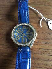 Ladies/Gents GOSSIP Stone Encrusted Large Blue Dial  W455/9