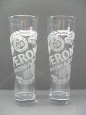 2 GENUINE OFFICIAL PERONI  PINT GLASSES
