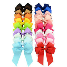 20pcs/lot  Kids Girls Ribbon Hair Cheer Bows Alligator Clip Headwear Boutique