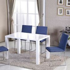 e1a6419ff35 Dining Room Table Rectangular High Gloss White Dining Table 4-6 Seaters  Kitchen