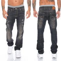 Designer rock creek herren jeans hose schwarz vintage style herrenjeans LL-301
