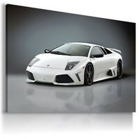 LAMBORGHINI MURCIELAGO WHITE Sports Car Wall Art Canvas Picture  AU499  MATAGA