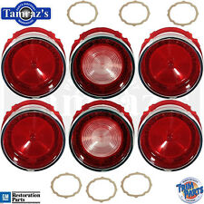 65 Bel Air Style Rear Tail Light Back Up Lamp Lens with Gaskets 12pc Made in USA