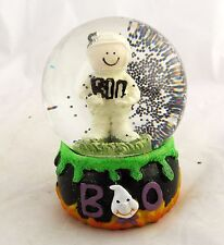 Vtg Halloween Witch Cauldron Mummy Mini Water Ball Snow Globe Dome Snowglobe