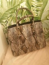 Jones the Bootmaker Faux Leather Snakeskin Top Handle Tote Shopper Bag