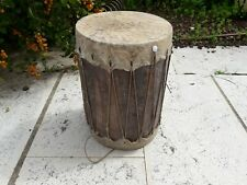 Antique Wood Drum Stretched Leather