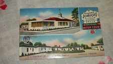Danville Virginia Howard Johnsons Restaurant Wayside Motor Ct Vintage Postcard