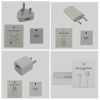 USB 5W Power Adapter Plug +Lightning Cable For Apple iPhone 6 6S 7 Plus 5S SE 5C