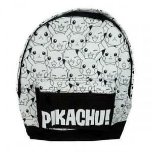 Official Pokemon Pikachu Boys Roxy School Backpack Rucksack Black White Bag