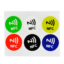 6PCs NFC Smart Tags Sticker Chip Rfid Adhesive Label For Samsung iPhone