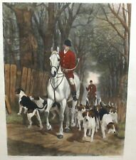 "E.A.S.DOUGLAS ""MORNING GOING TO COVER"". ORIGINAL HAND COLORED LARGE ENGRAVING"