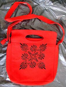 Filztasche Tasche mit Naturmotiv Damentasche Filz