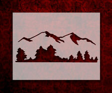 "Mountains Mountain Trees Tree Line 11"" x 8.5"" Custom Stencil FREE SHIPPING (50)"