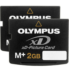2 Olympus 2GB XD M+ Picture Card 2 GB Memory Card BRAND NEW