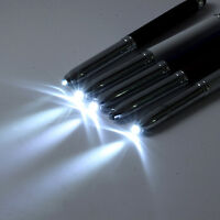 3 in 1 Touch Screen Stylus Ballpoint Pen With LED Flash Light For iPad Iphone
