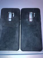 Lot Of 2pc Original Samsung Galaxy S9 Plus Alcantara Case -Blue-