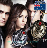 The Vampire Diaries Elena's Antique Silver And Bronze Locket Necklace