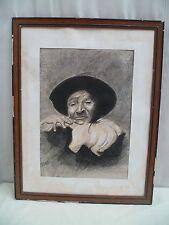 Ancien Dessin Mine de Plomb Portrait d'Homme Fin XIXème siècle