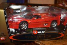Burago 1/18 Scale Diecast 3352 Ferrari F50 1995 Coupe RARE RED NEW
