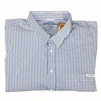 RM Williams Stockyard Men's Blayney Button Up Long Sleeve Striped Shirt 5XB NEW