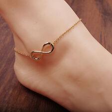 1pc moda mujer tobilleras plata oro tobillo pulsera pie cadena joyas