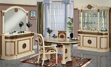 Klassisches Esszimmer Gold Mäander Atena Italienische Möbel Hochglanz versac
