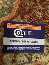 Owners manual for Colt Double Action Revolvers Anaconda, King Cobra