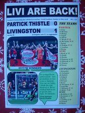 Partick Thistle 0 Livingston 1 - 2018 - Livingston promoted - souvenir print